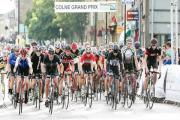 Riders in action at the Colne Grand Prix