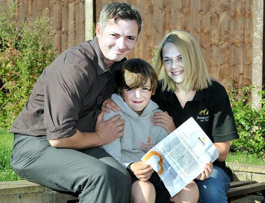 Lancashire Telegraph: Charlie Owen with mum Alison, who first tweeted the letter and dad Chez.