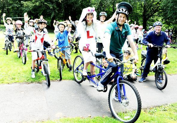 Padiham youngsters recreate Tour de France