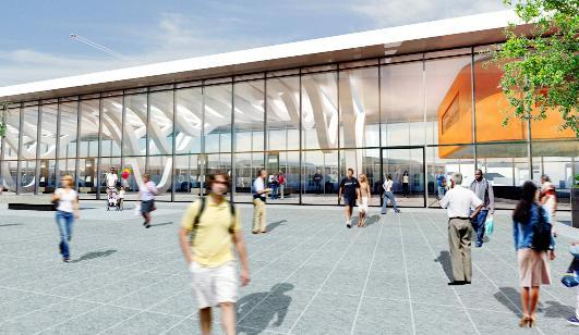 An artist's impression of Blackburn's new bus station