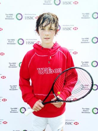 Talented tennis player George  Hutchings