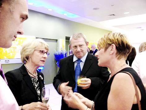 Iain Taylor and and Judith Denson chat to the Duchess of Gloucester at Wimb