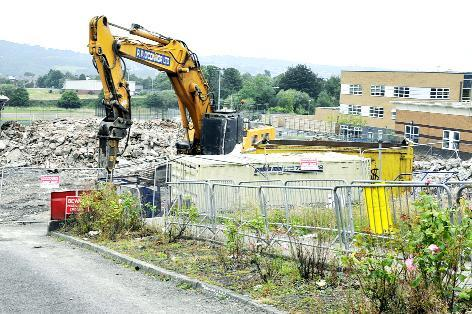 Final demolition work goes on at St Bede's