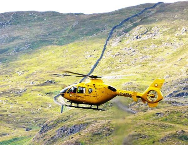 Cyclist airlifted to hospital after accident in Blackburn
