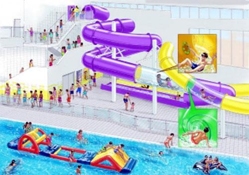 The artist's image of how the new Water Play Zone will look