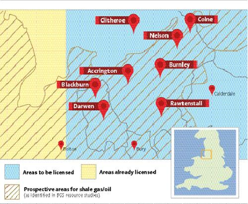 Underground deposits and licence areas