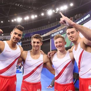England's men, pictured, and women both won team gymnastics gold