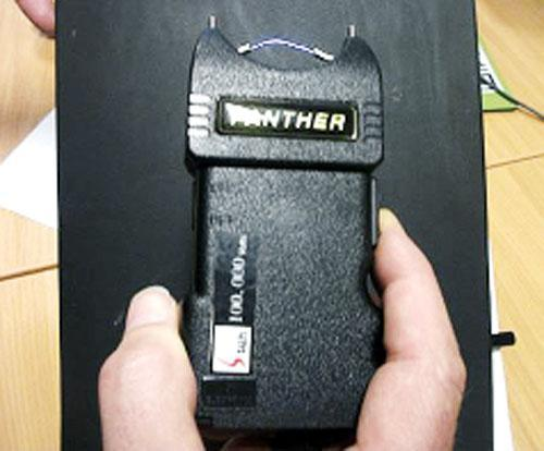 The powerful stun gun seized by police