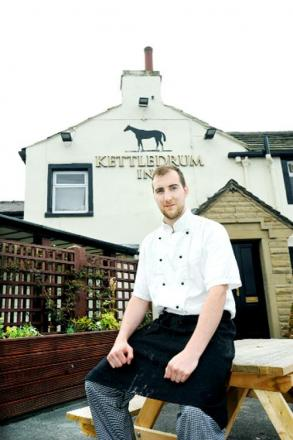 Chef James Atkinson  back at work at the Kettledrum in Cliviger