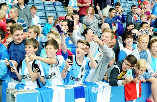 Hundreds of young Blackburn Rovers fans pack Ewood Park for fun day