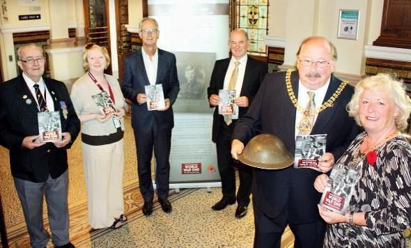 From left, Ray Hogan of Burnley and Pendle ex-services club; Coun Ida Carmichael; council chief Steve Rumbelow; Tom Forshaw, head of the council chief executive's office; and Mayor and Mayoress of Burnley Coun Andy and Mrs Lorna Tatchell.