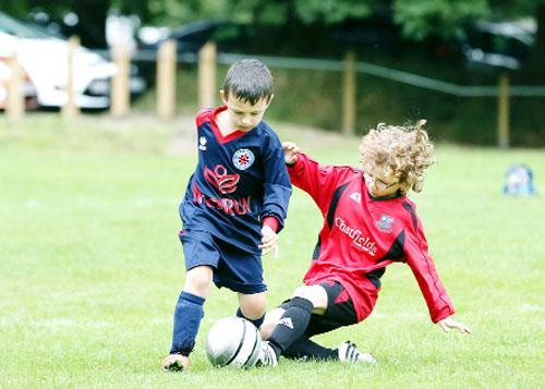 Action from last year's football tournament