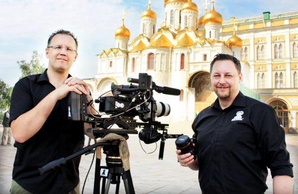 Brothers Rob and Brad Hallam, founders of Bigtank Productions, on location