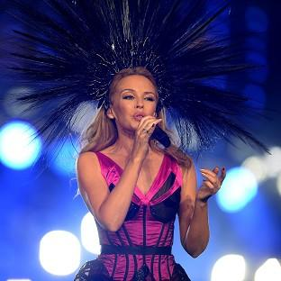 Kylie performed during the 2014 Commonwealth Games Closing Ceremony in Glasgow