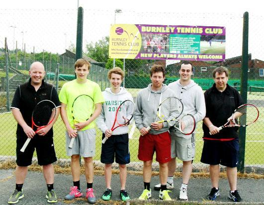 Members of Burnley Tennis Club who have had a great season so far
