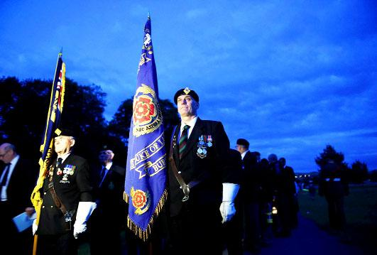 Darkness falls across East Lancashire to mark WW1 centenary