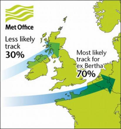 Tropical storm could hit East Lancashire