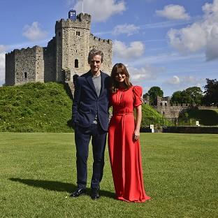 Dr Who stars Peter Capaldi and Jenna Coleman kicked off the world tour at Cardiff Castle in Wales