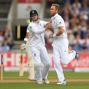 England's Stuart Broad took six wickets against In