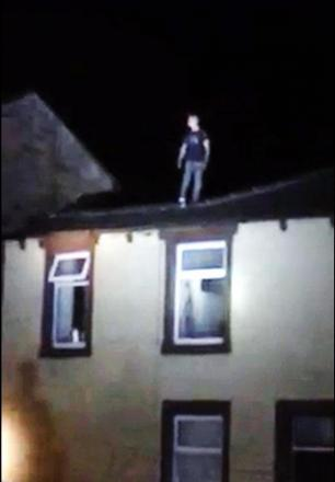 VIDEO: Police helicopter called to Burnley rooftop siege