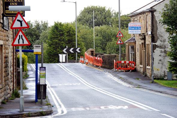Anger as car demolishes bridge in hit-and-run incident just yards from where Burnley teen was killed