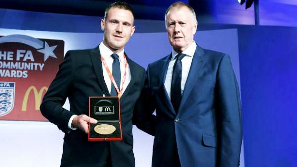 Grassroots hero Chris Byrne gets top football prize