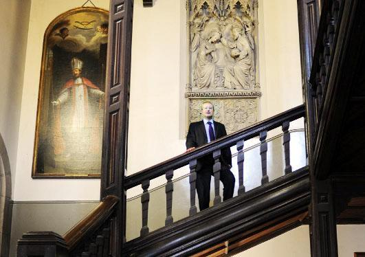 Headmaster Andrew Johnson at Stonyhurst College