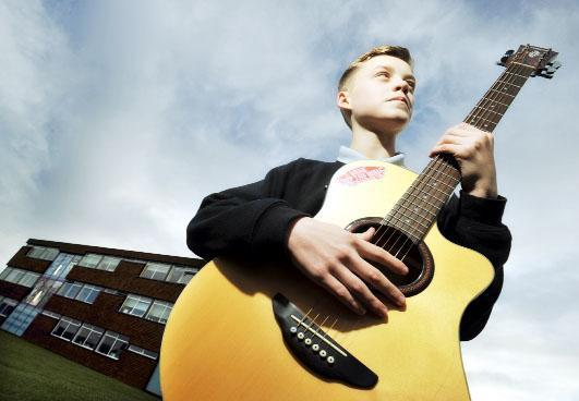 Musician Reece Bibby who was on the X Factor at the weekend has thanked his insp