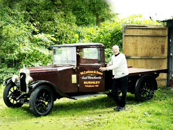 George Catlow and the vintage truck he has restored