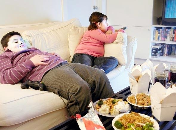 Child obesity is a major problem in E Lancs. Picture posed by models
