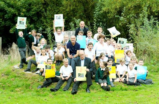 Burnley MP Gordon Birtwistle joins Padiham Green School pupils to say no to the expansion of Shuttleworth Mead Business Park