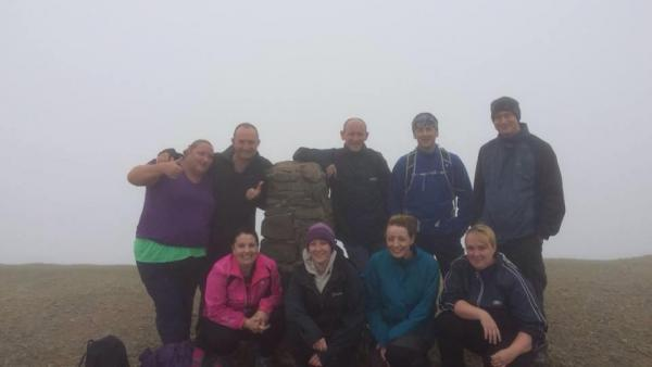 Focus Insolvency Group tackles Helvellyn in aid of Derian House Children's Hospice.
