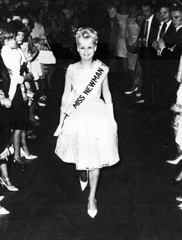 Margaret Proctor was chosen to represent Newman's in the Miss Industry contest in 1965