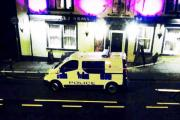 Police at the Walmesley Arms, Great Harwood