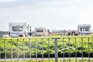 Travellers quit Blackburn site - but stay at another