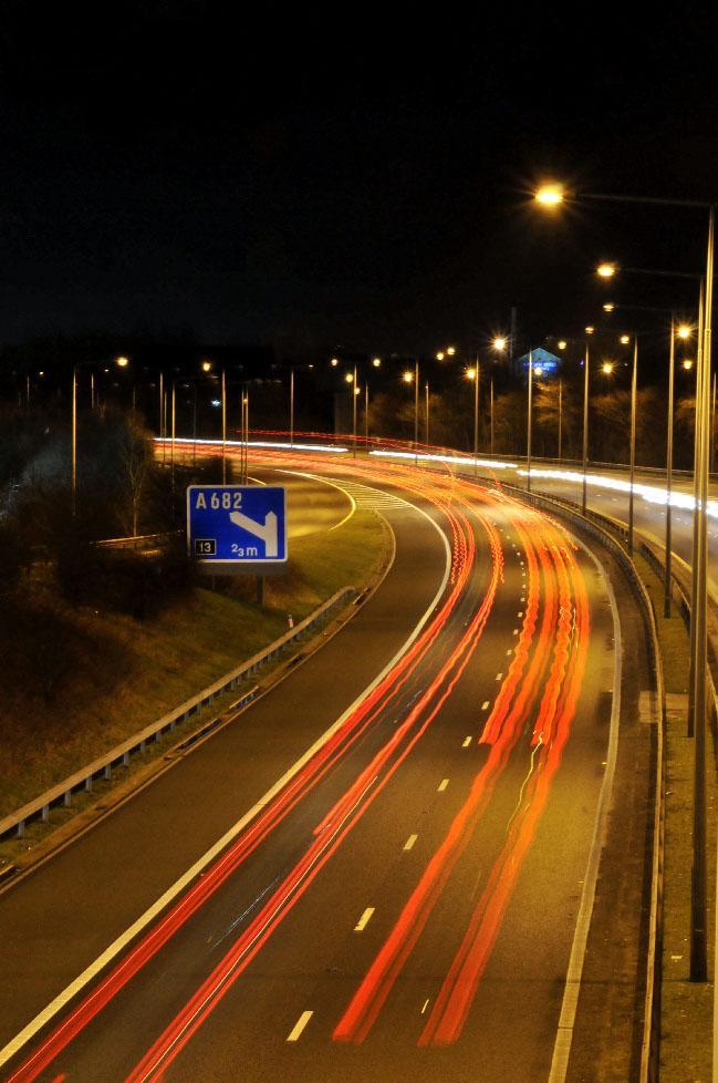 Delays after large vehicle fire on M65