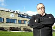 Committee member Steve White outside the club hit by vandals