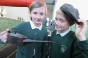 Lucia Stephenson and Joel Chesters visit the Queen Street mill in Briercliffe as part of a Lancashire Day school trip in 2012