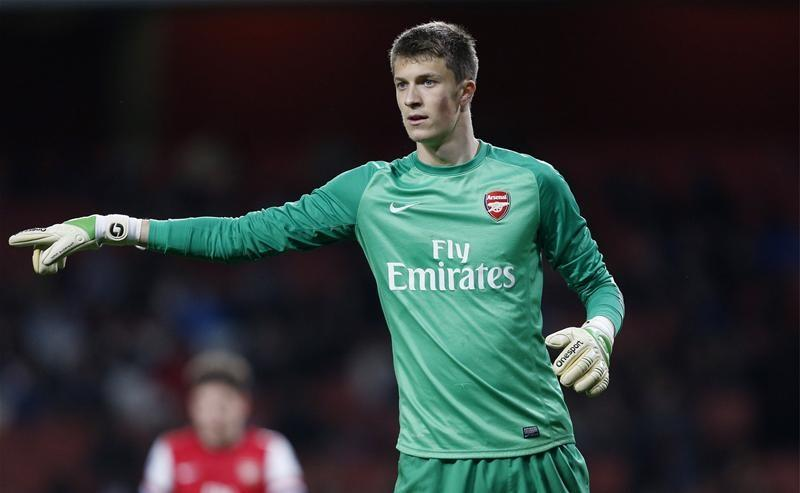 Arsenal goalkeeper Matt Macey