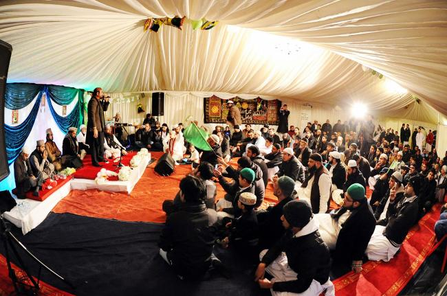 Street turned into party venue to celebrate the Prophet