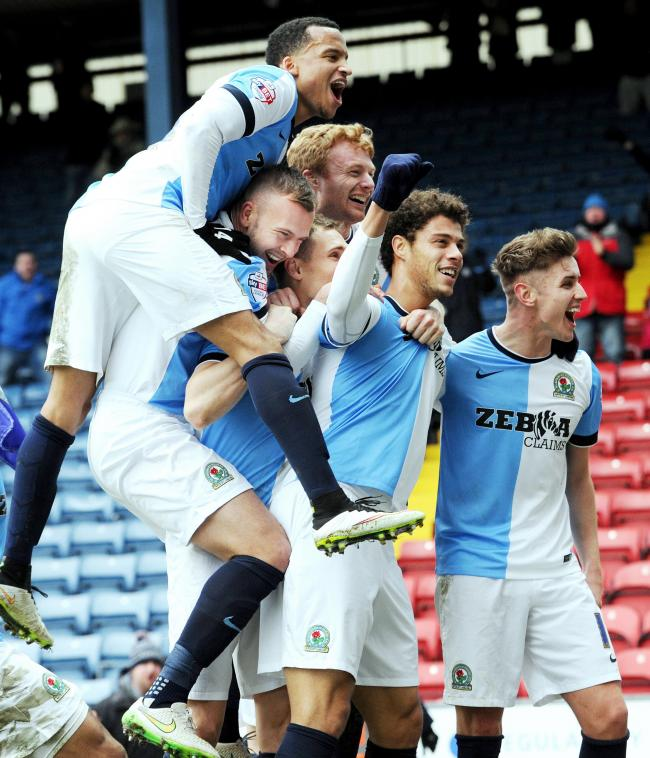 Rovers celebrate Rudy Gestede's decisive strike against Swansea