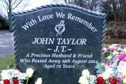 MEMORIAL: John Taylor's grave at Great Harwood Cemetery