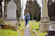 This dog walker in Padiham has responsibly kept her animal on a lead, but others don't.