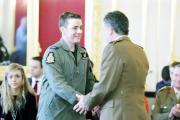 A TRUE HERO: Sgt Dan Allanson receives his award from Chief of the General Staff, General Sir Nicholas Carter