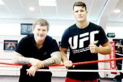 AIM: Michael Bisping (right) with Ricky Hatton