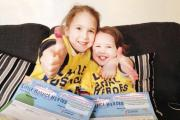 TRIBUTE: Mia, left, and Lilah Smith are two of the Little Hospice Heroes taking part in the fund-raising walk