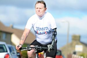 One-arm veteran takes on three-day cycling challenge for fund