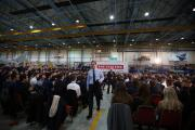 HIGH PROFILE: Prime Minister David Cameron after his talk during a visit to BAE Systems in Preston