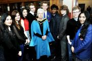 CELEBRATION: Clitheroe Royal Grammar School awards night for last summer's GCSE and A level students at King George's Hall, Blackburn. Head teacher Judith Child pictured with some of her students