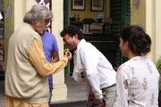 Amitabh slips-up at the 'banana scene' opposite Irrfan Khan